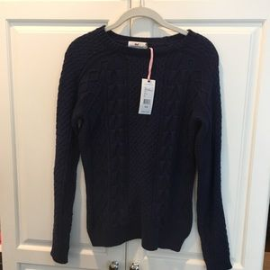 Navy blue long sleeve sweater
